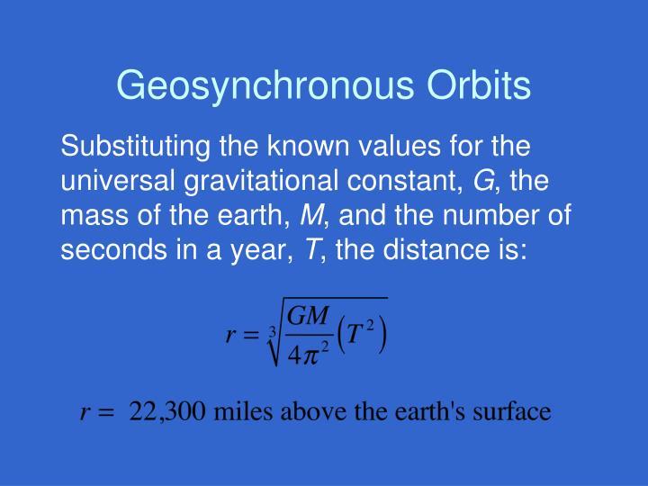 Geosynchronous Orbits