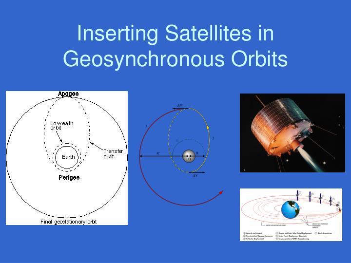 Inserting Satellites in Geosynchronous Orbits