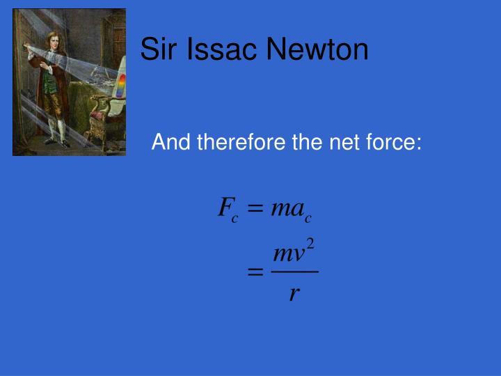 Sir Issac Newton