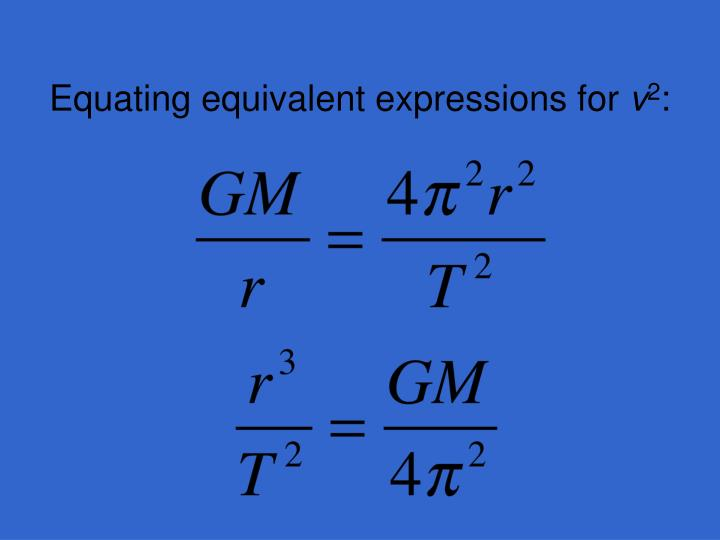 Equating equivalent expressions for