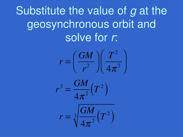 Substitute the value of
