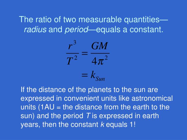 The ratio of two measurable quantities—