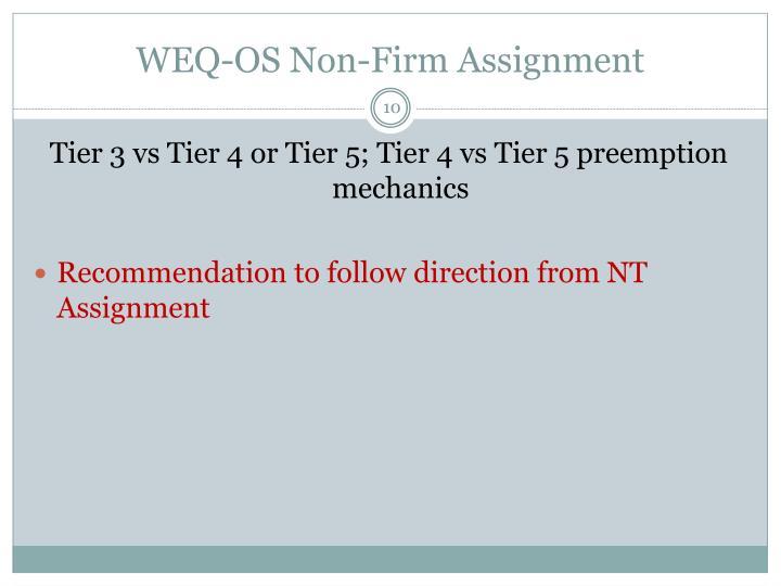 WEQ-OS Non-Firm Assignment