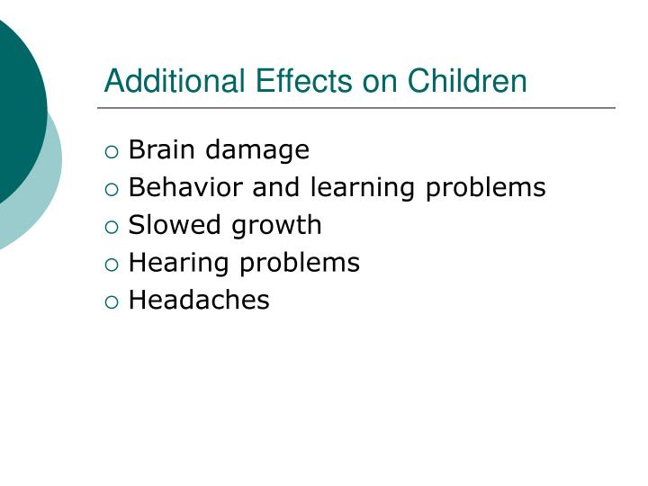 Additional Effects on Children