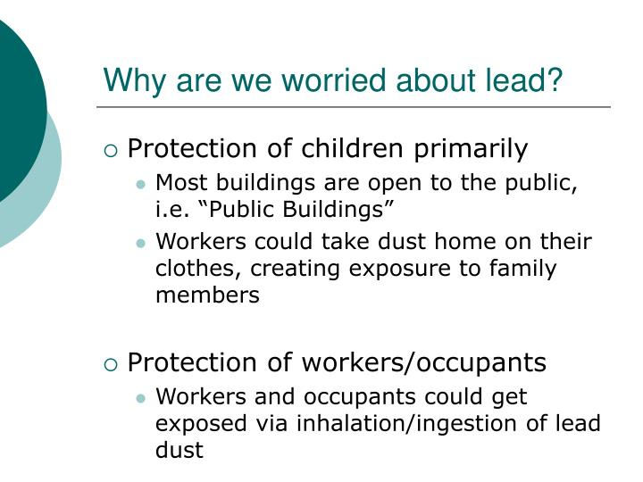 Why are we worried about lead
