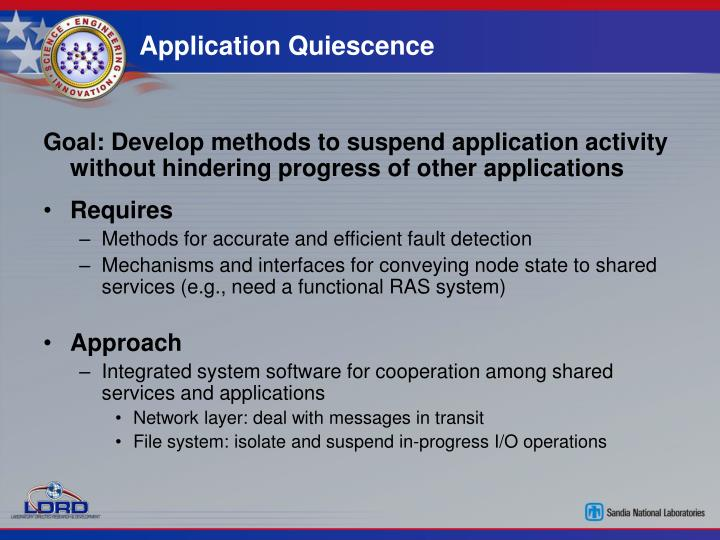 Application Quiescence