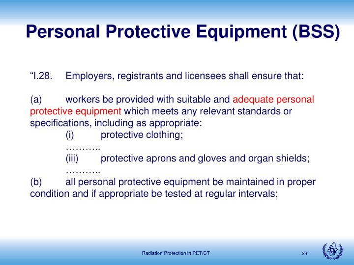 Personal Protective Equipment (BSS)