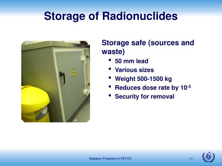 Storage of Radionuclides