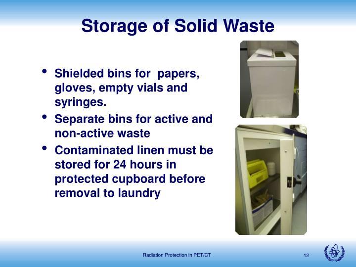 Storage of Solid Waste