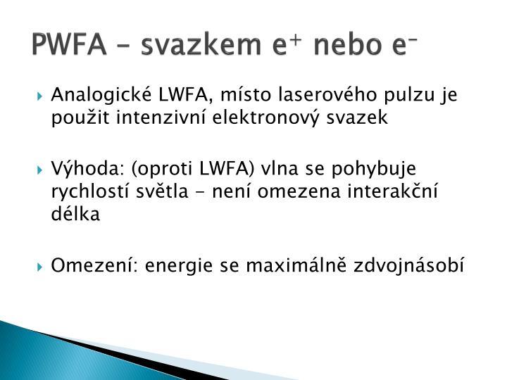 PWFA – svazkem e