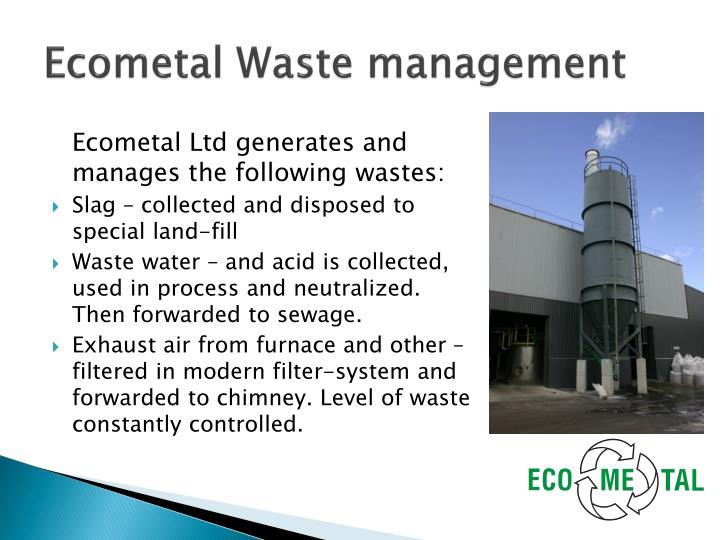 Ecometal Waste management