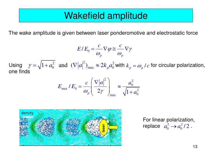 Using                                                                with                  for circular polarization,
