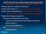 copy over algorithm pseudocode