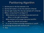 partitioning algorithm