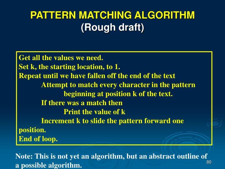 PATTERN MATCHING ALGORITHM