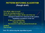 pattern matching algorithm rough draft1