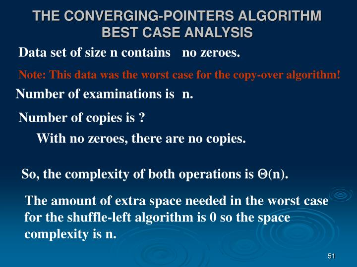 THE CONVERGING-POINTERS ALGORITHM