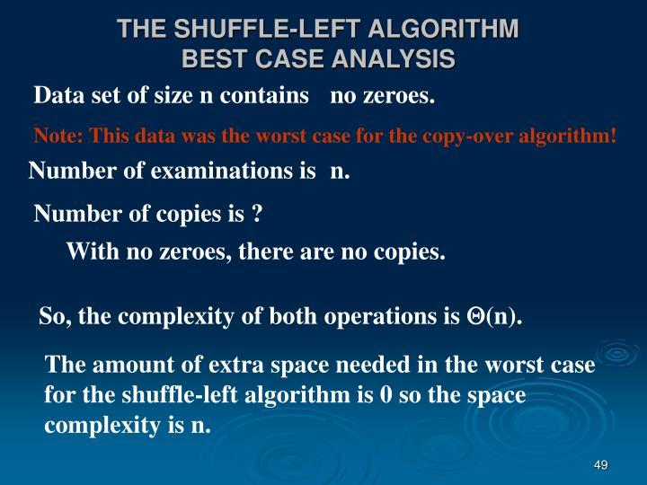 THE SHUFFLE-LEFT ALGORITHM