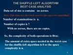 the shuffle left algorithm best case analysis