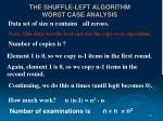 the shuffle left algorithm worst case analysis