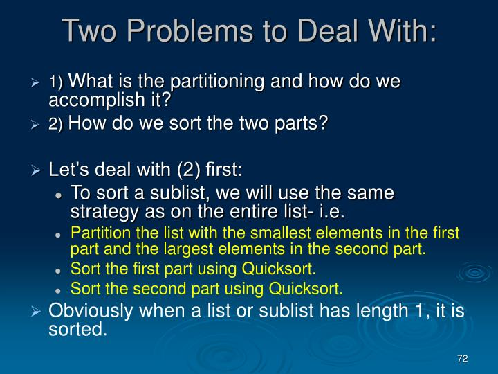 Two Problems to Deal With: