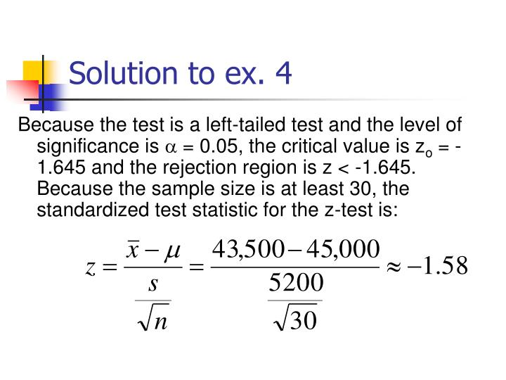 Solution to ex. 4