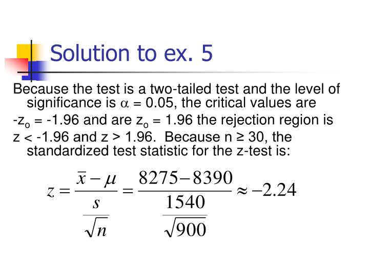 Solution to ex. 5