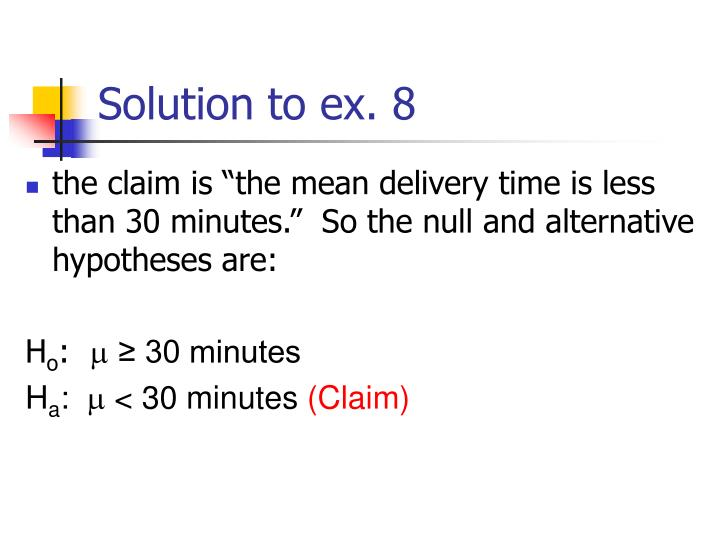 Solution to ex. 8