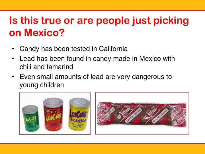 Candy has been tested in California