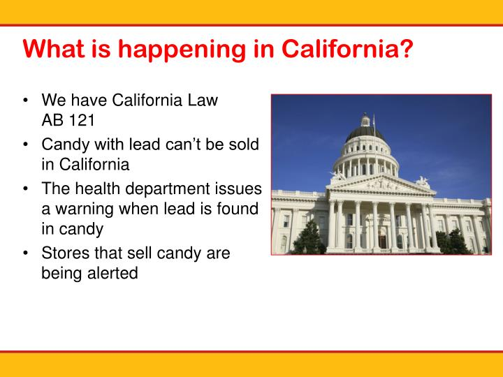 What is happening in California?