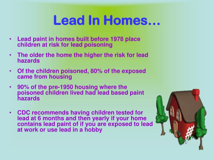 Lead In Homes…