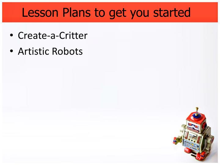 Lesson Plans to get you started