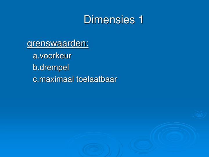 Dimensies 1