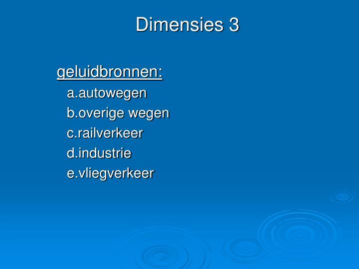 Dimensies 3