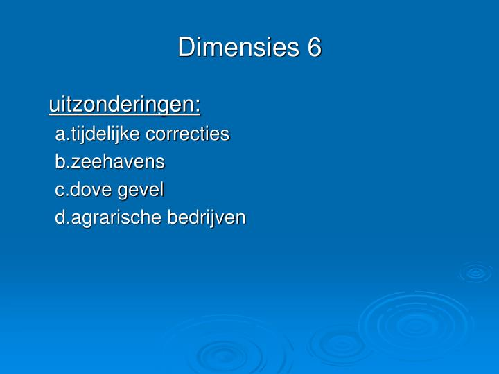 Dimensies 6