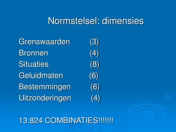 Normstelsel: dimensies