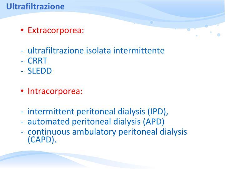 Ultrafiltrazione