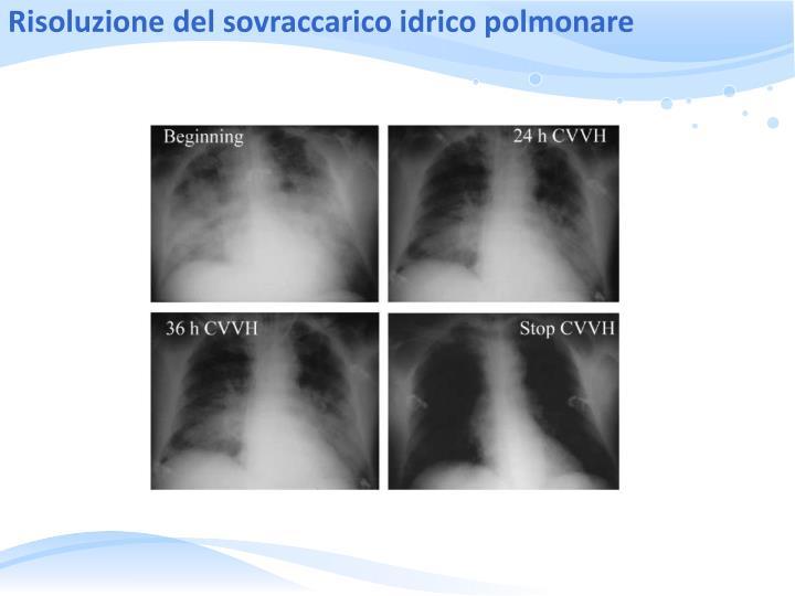 Risoluzione del sovraccarico idrico polmonare