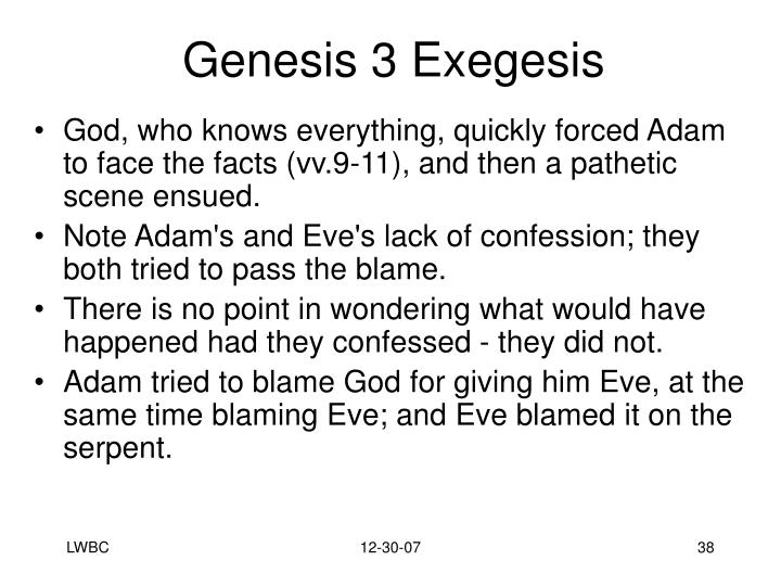 Genesis 3 Exegesis