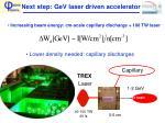 next step gev laser driven accelerator