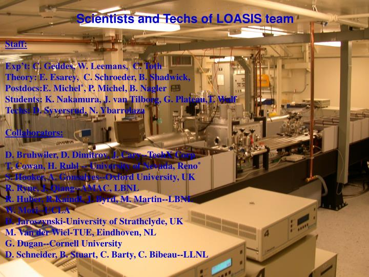 Scientists and Techs of LOASIS team
