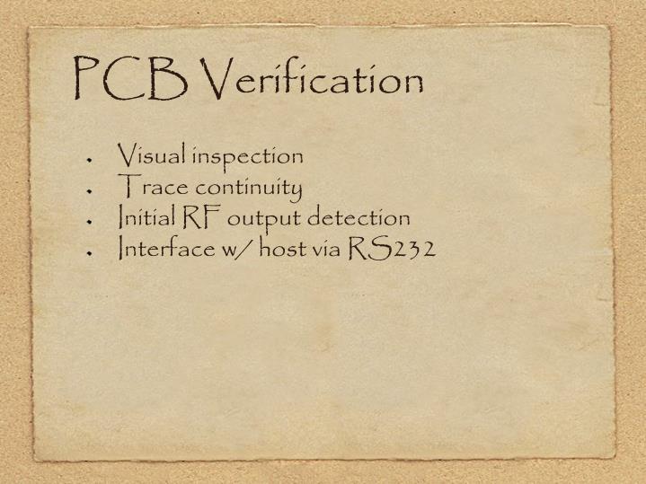 PCB Verification