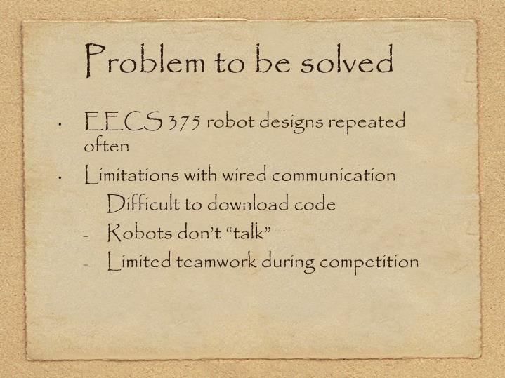 Problem to be solved