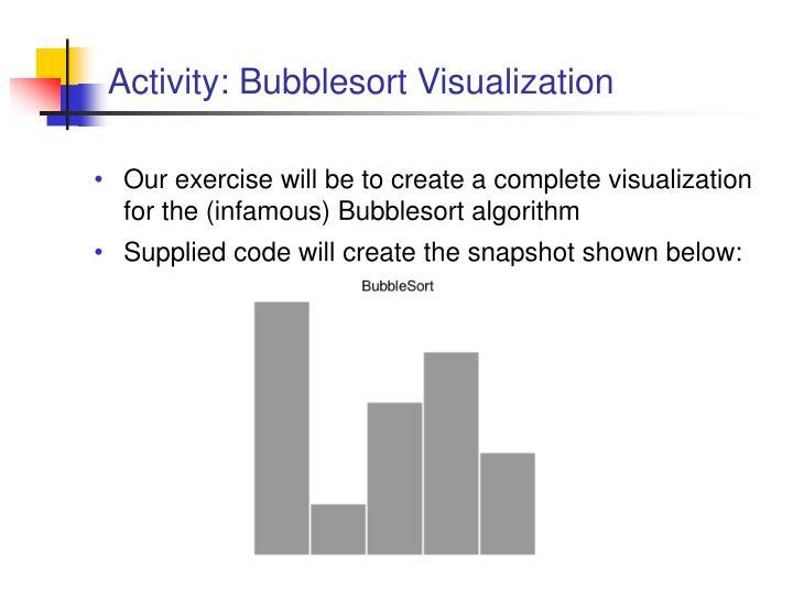 Activity: Bubblesort Visualization