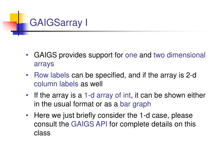 GAIGSarray I