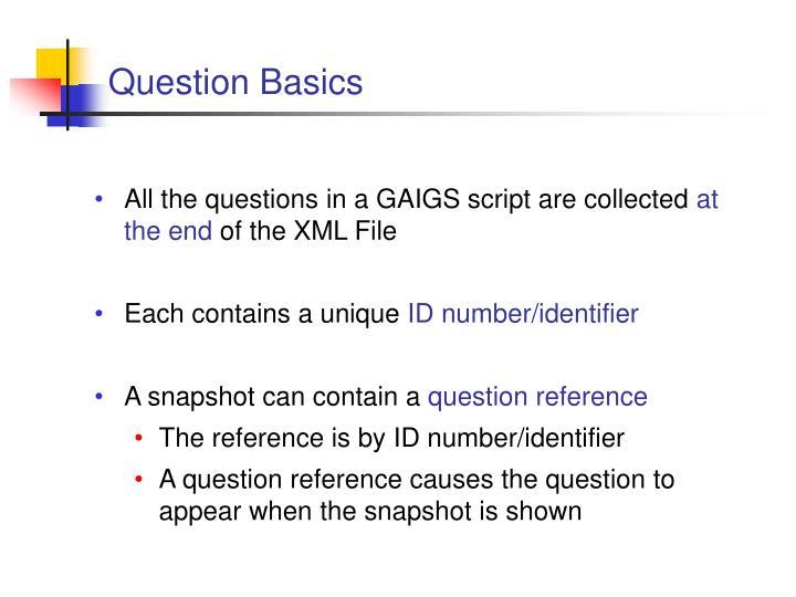 Question Basics