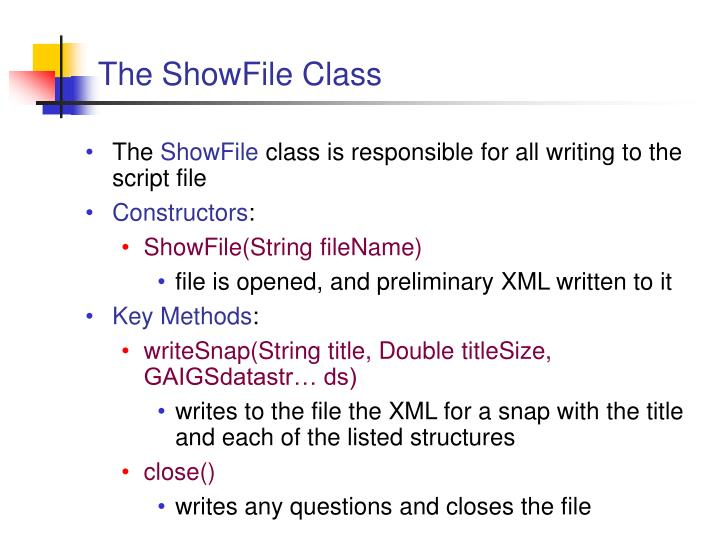The ShowFile Class
