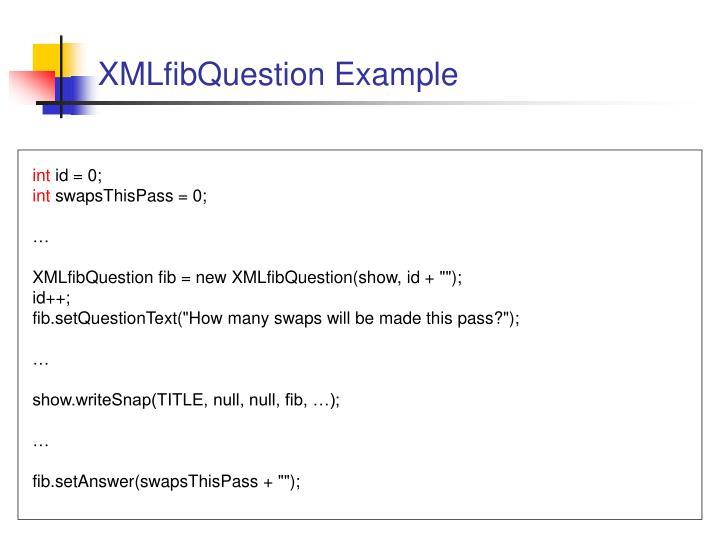 XMLfibQuestion Example