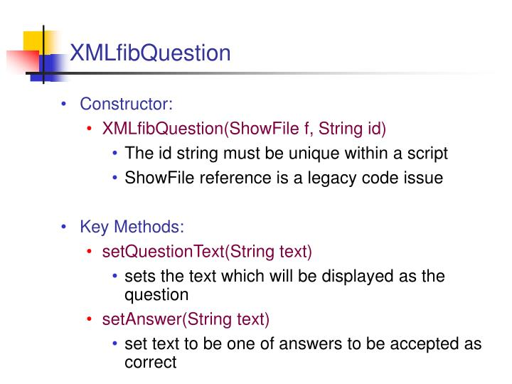 XMLfibQuestion