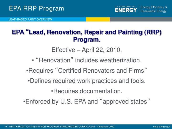 EPA RRP Program